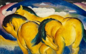 Little Yellow Horses by  Franz Marc
